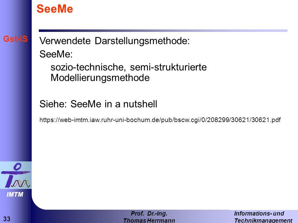 33 Informations- und Technikmanagement Prof.Dr.-Ing.