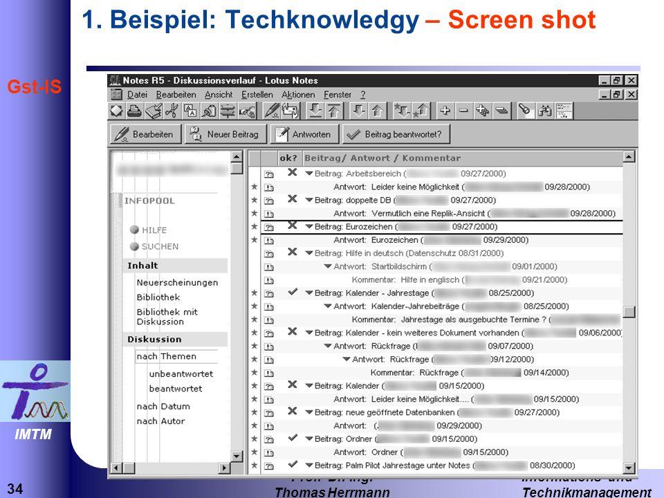34 Informations- und Technikmanagement Prof.Dr.-Ing.
