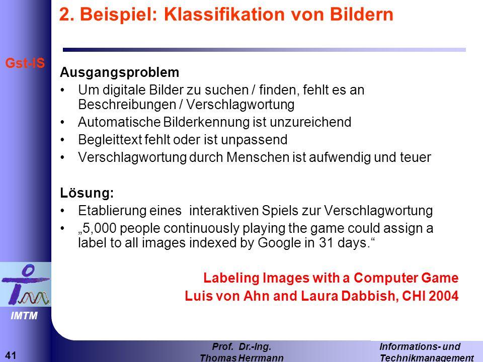 41 Informations- und Technikmanagement Prof.Dr.-Ing.
