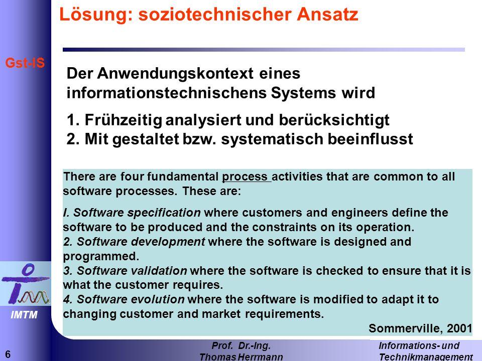 37 Informations- und Technikmanagement Prof.Dr.-Ing.