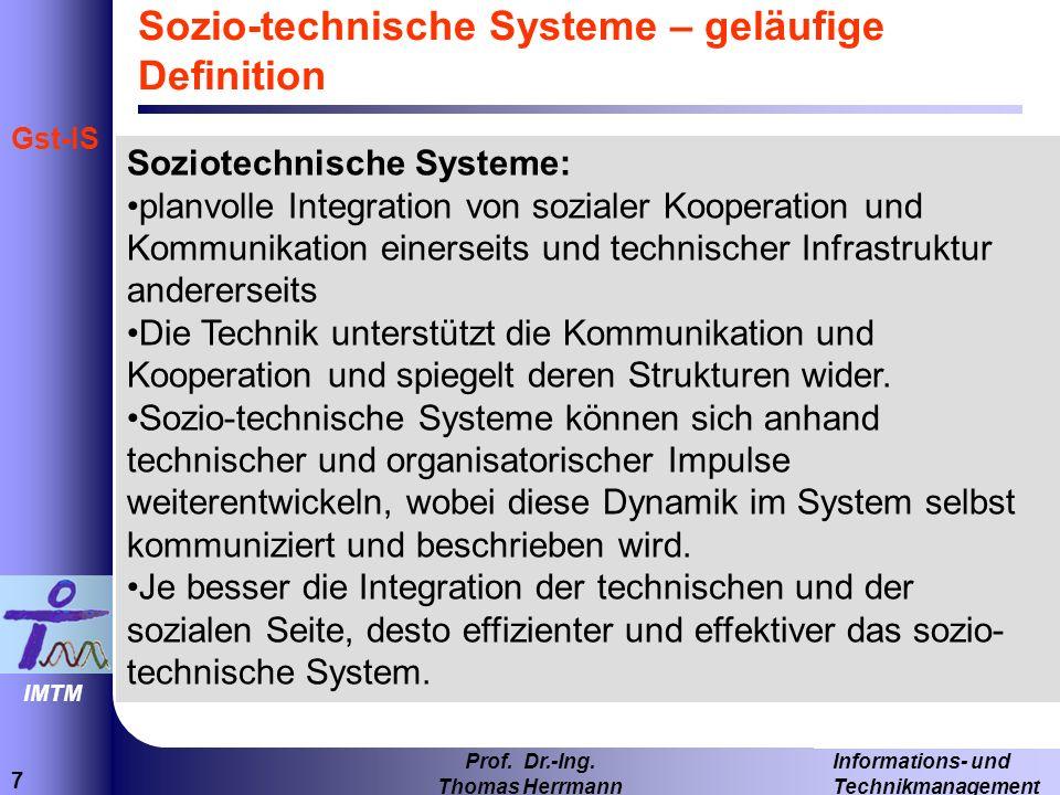38 Informations- und Technikmanagement Prof.Dr.-Ing.