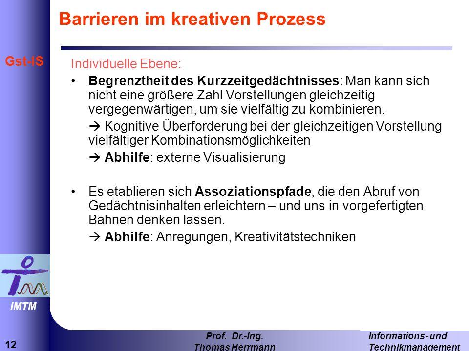 12 Informations- und Technikmanagement Prof.Dr.-Ing.