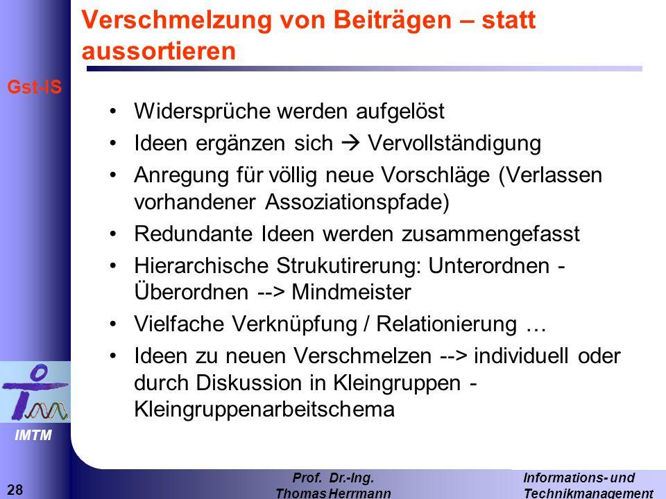 28 Informations- und Technikmanagement Prof.Dr.-Ing.