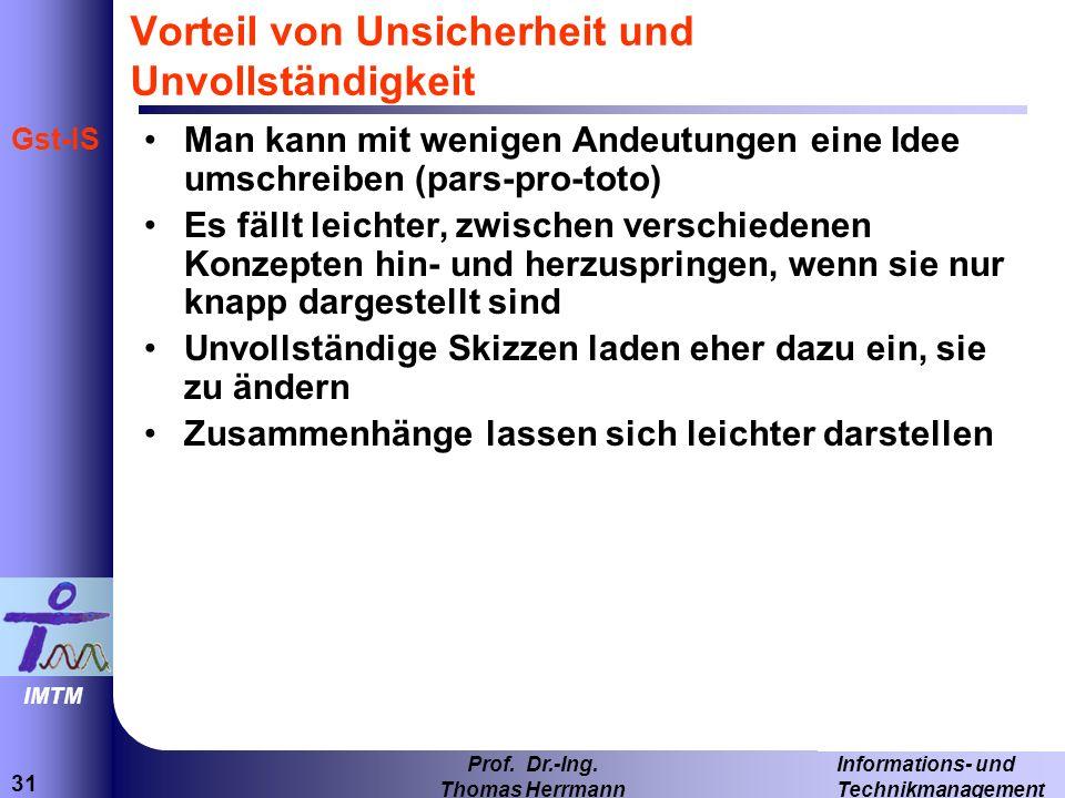 31 Informations- und Technikmanagement Prof.Dr.-Ing.