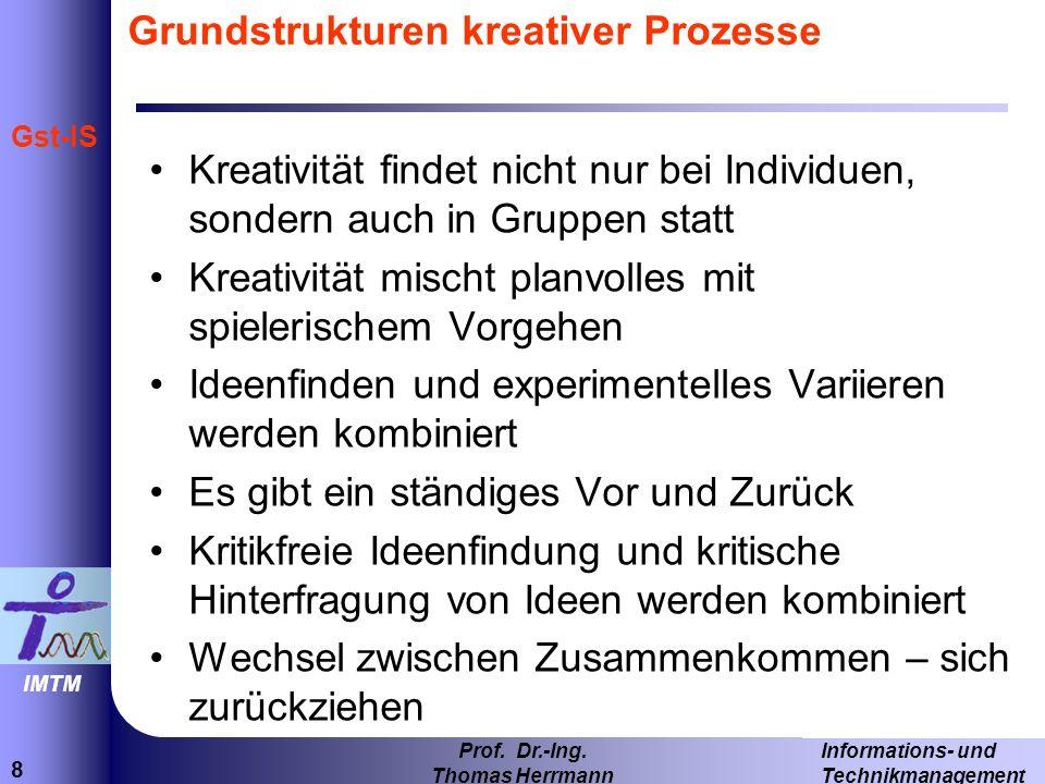 19 Informations- und Technikmanagement Prof. Dr.-Ing. Thomas Herrmann IMTM Gst-IS Concept Map