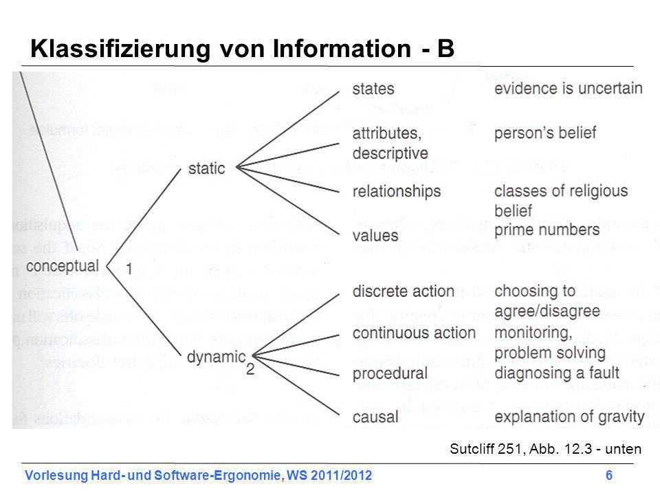 Vorlesung Hard- und Software-Ergonomie, WS 2011/2012 47 Use of Sound (2) Test the sounds with users over extended trial periods.