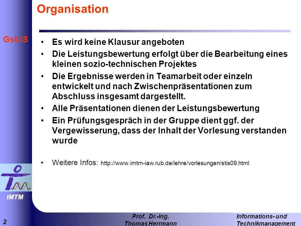 2 Informations- und Technikmanagement Prof. Dr.-Ing.