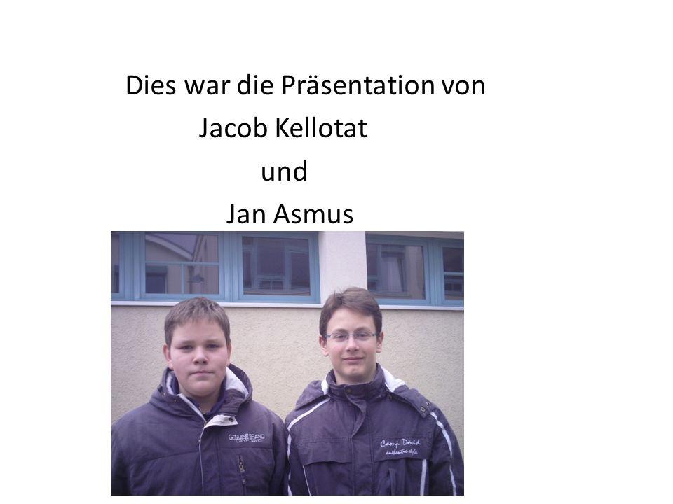 Dies war die Präsentation von Jacob Kellotat und Jan Asmus