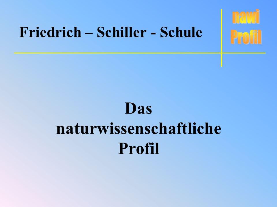 Das naturwissenschaftliche Profil Friedrich – Schiller - Schule