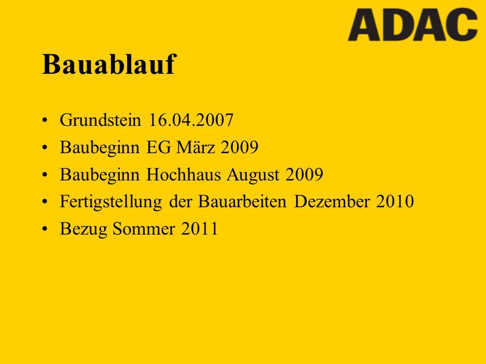 Bauablauf Grundstein 16.04.2007 Baubeginn EG März 2009 Baubeginn Hochhaus August 2009 Fertigstellung der Bauarbeiten Dezember 2010 Bezug Sommer 2011