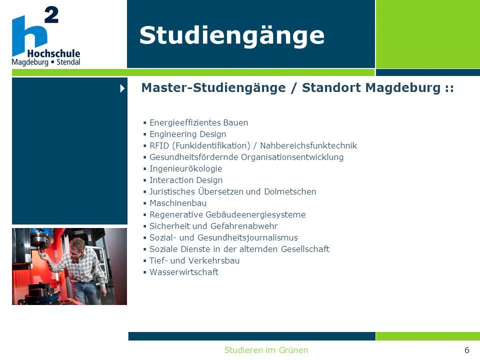 Studieren im Grünen6 Energieeffizientes Bauen Engineering Design RFID (Funkidentifikation) / Nahbereichsfunktechnik Gesundheitsfördernde Organisations