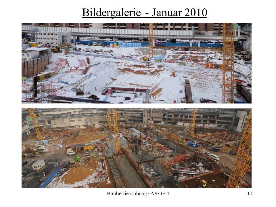 Baubetriebsübung - ARGE 411 Bildergalerie - Januar 2010