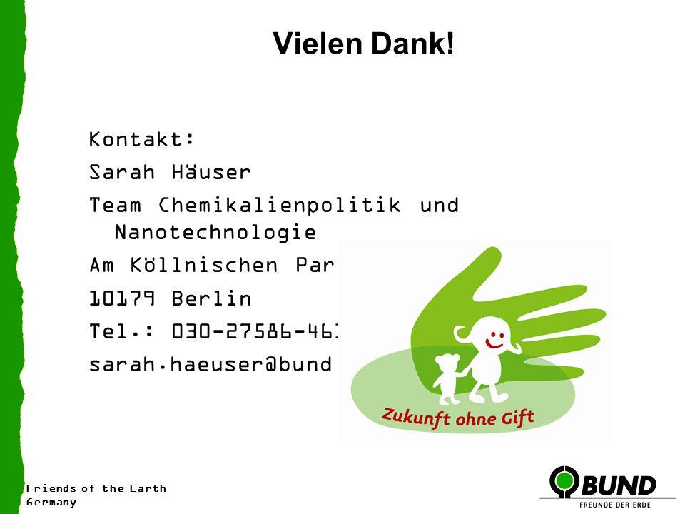 Friends of the Earth Germany Vielen Dank.