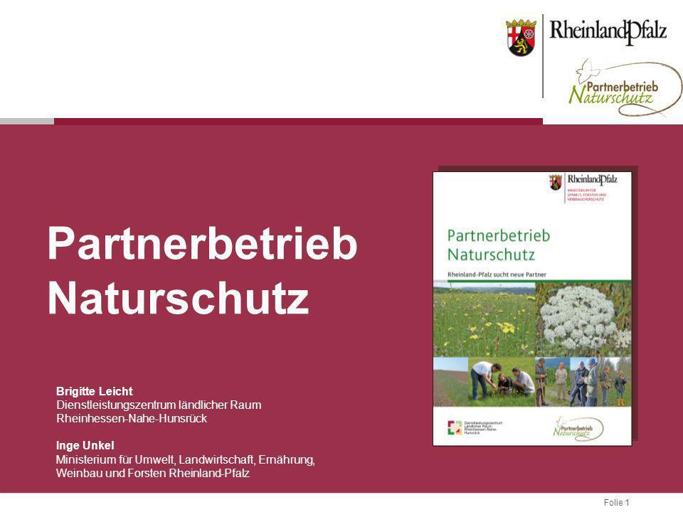 Folie 1 Brigitte Leicht Dienstleistungszentrum ländlicher Raum Rheinhessen-Nahe-Hunsrück Inge Unkel Ministerium für Umwelt, Landwirtschaft, Ernährung,