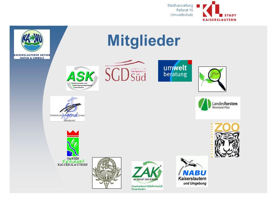 Stadtverwaltung Referat 15 Umweltschutz Mitglieder