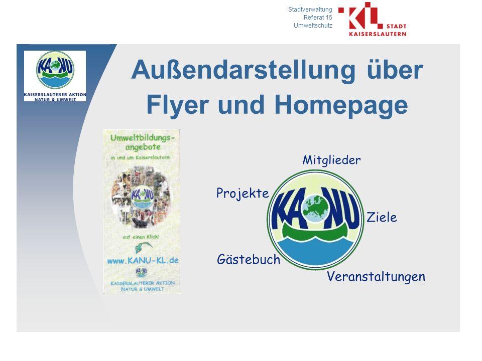 Stadtverwaltung Referat 15 Umweltschutz Außendarstellung über Flyer und Homepage
