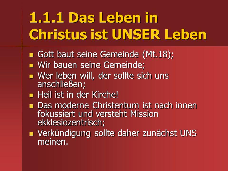 4.4 Teilhaber am Werk Gottes werden Gottes Neue Welt verstehen – Jes.