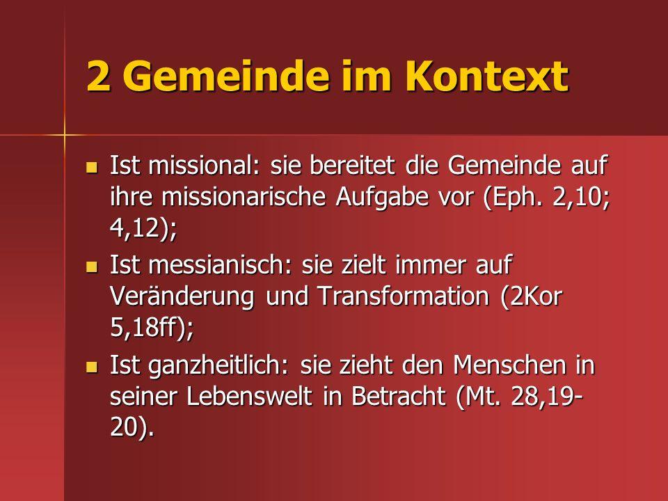 4.4.3 Das Missionarische Potenzial der Gemeinde identifizieren Was besitzen wir.