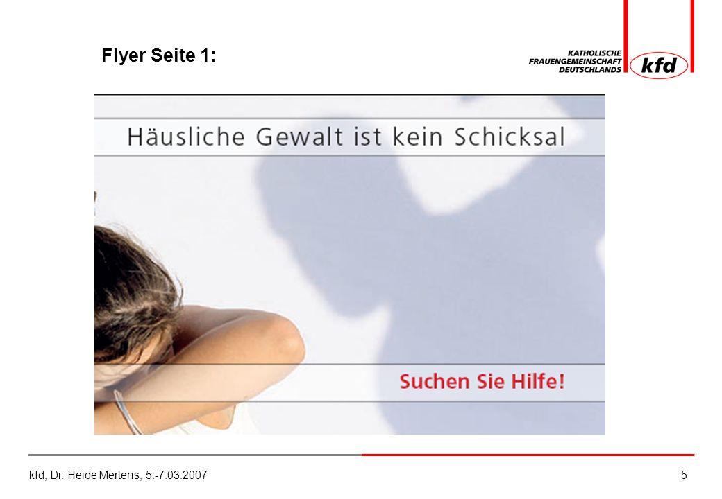 kfd, Dr. Heide Mertens, 5.-7.03.20075 Flyer Seite 1: