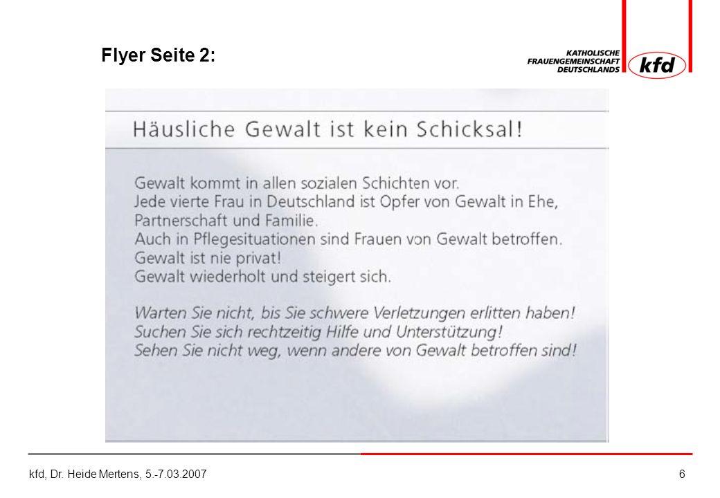 kfd, Dr. Heide Mertens, 5.-7.03.20076 Flyer Seite 2: