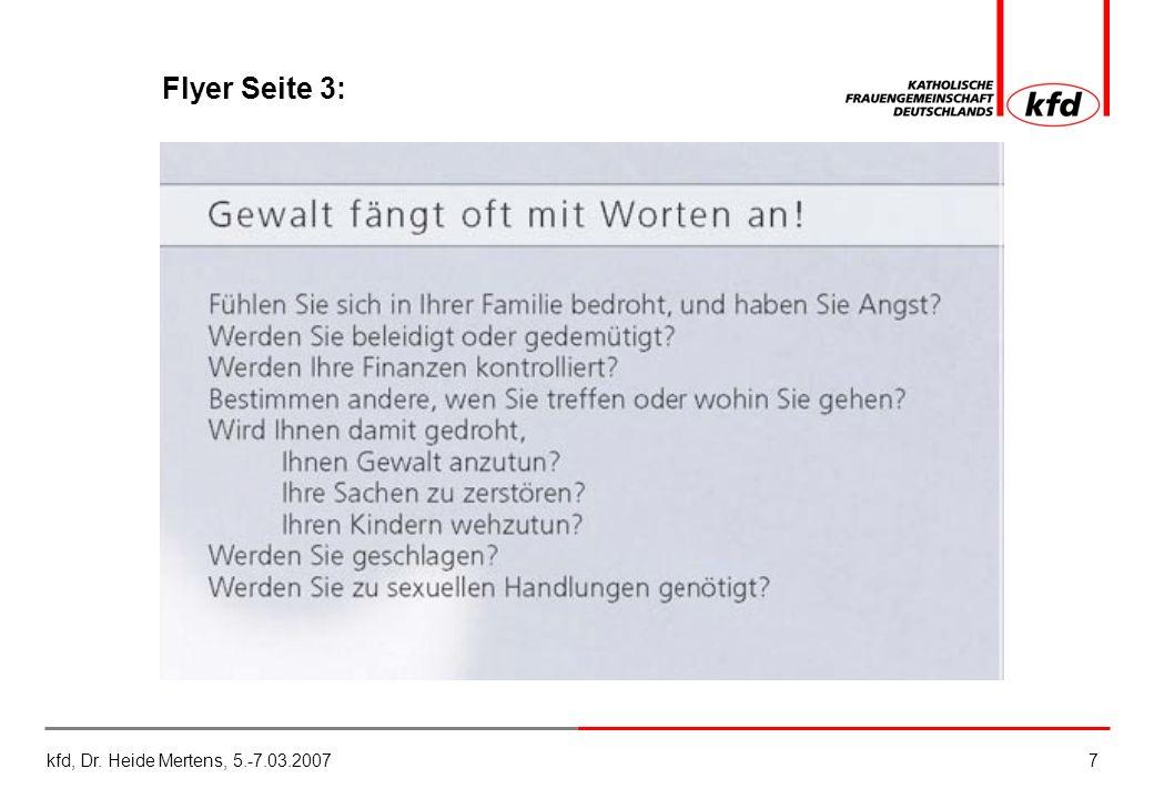 kfd, Dr. Heide Mertens, 5.-7.03.20077 Flyer Seite 3: