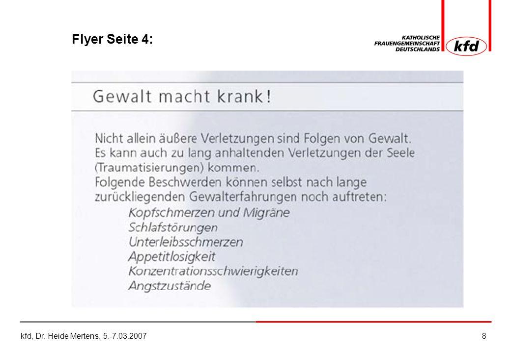 kfd, Dr. Heide Mertens, 5.-7.03.20078 Flyer Seite 4: