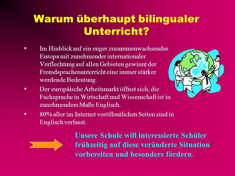 Bilingual lessons Bilingualer Unterricht an der Bertolt-Brecht-Oberschule
