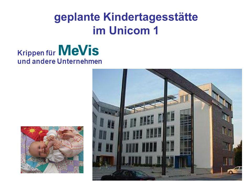 geplante Kindertagesstätte im Unicom 1 Krippen für und andere Unternehmen
