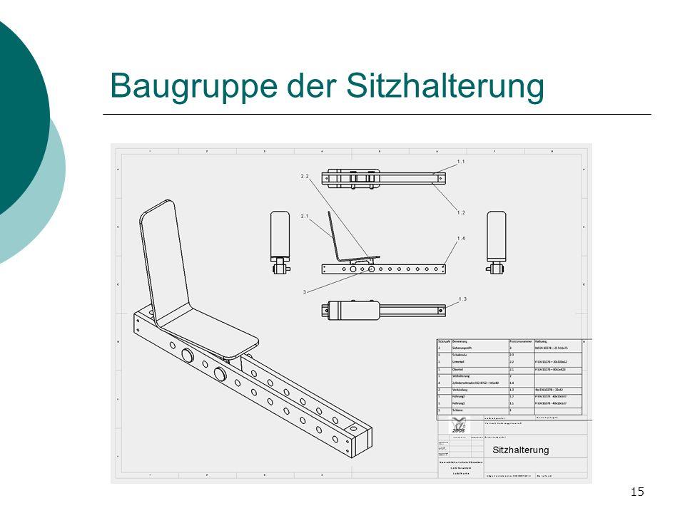 15 Baugruppe der Sitzhalterung