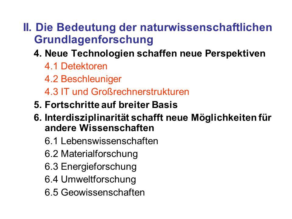 II.Die Bedeutung der naturwissenschaftlichen Grundlagenforschung 4.