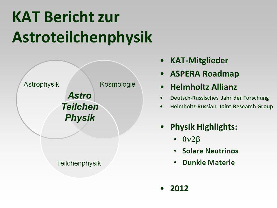 KAT-Mitglieder Dunkle Materie Josef Jochum U.Tübingen Neutrinomasse Christian Weinheimer U.