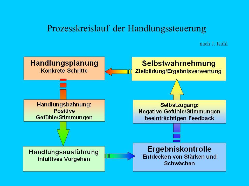 Prozesskreislauf der Handlungssteuerung nach J. Kuhl