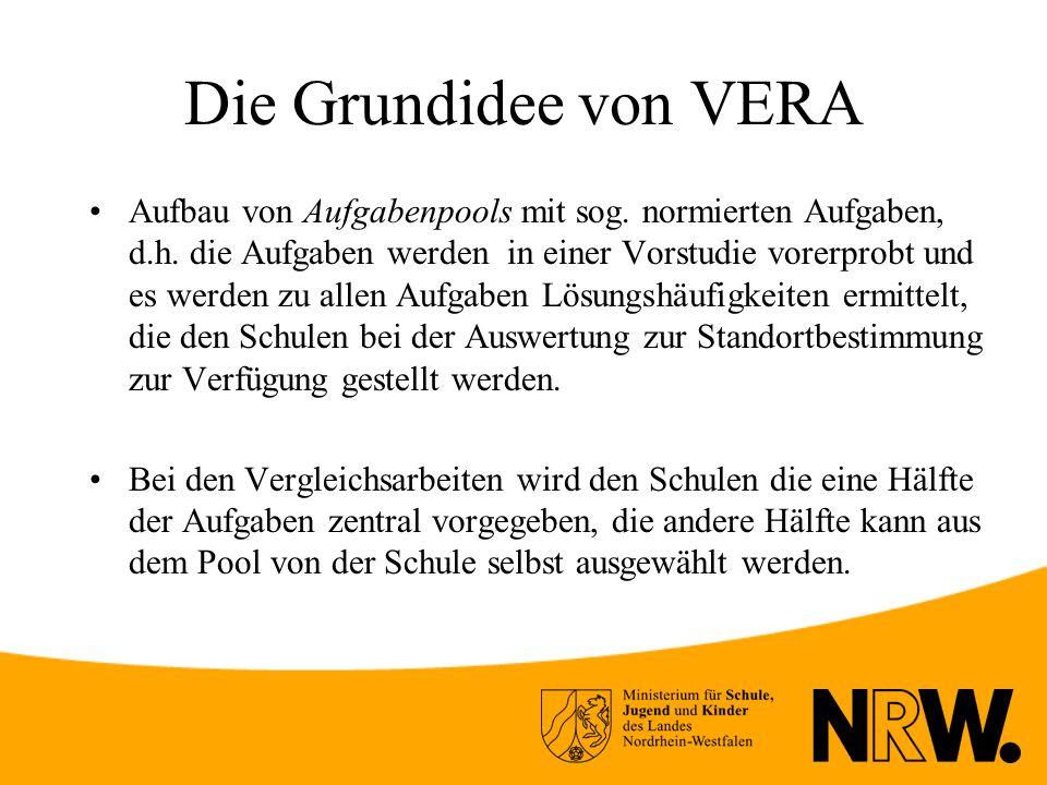 Die Grundidee von VERA Aufbau von Aufgabenpools mit sog.