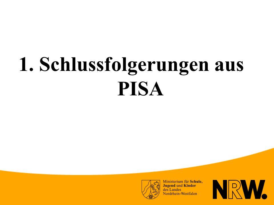 1. Schlussfolgerungen aus PISA