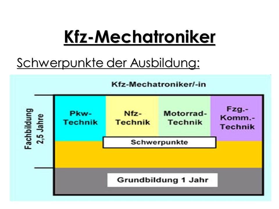 Kfz-Mechatroniker Verdienst: 1.Ausbildungsjahr: 530 brutto (netto ca.390) 2.Ausbildungsjahr: 580 brutto (netto ca.