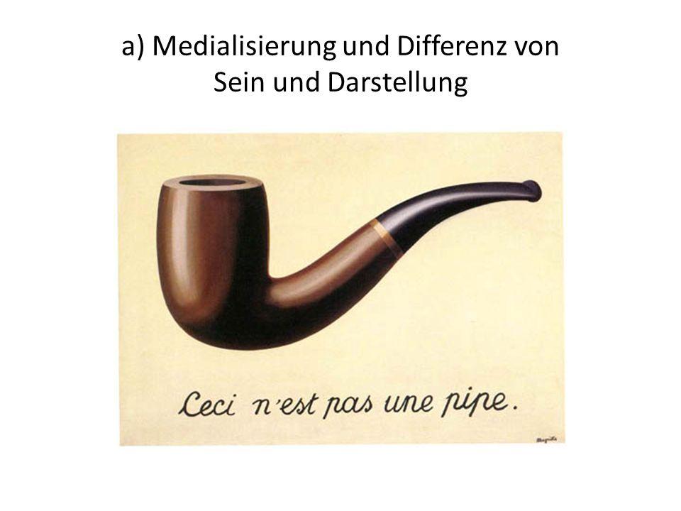 a) Medialisierung und Differenz von Sein und Darstellung René Magrittes (Der) Verrat der Bilder aus dem Jahr 1928/29 führt uns diese (ontische) Differ