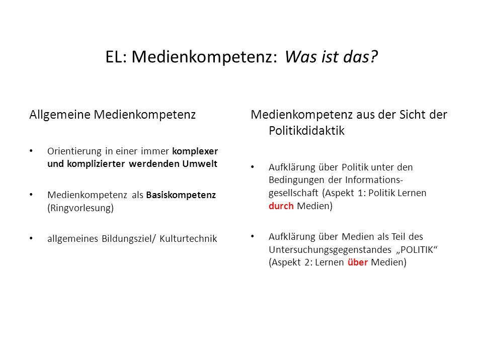 Ü b e r s i c h t Einleitung: Medienkompetenz- was ist das? 1. Das Ziel: Der urteils- und handlungskompetente Bürger 2. Das Problem: Die Medialisierun
