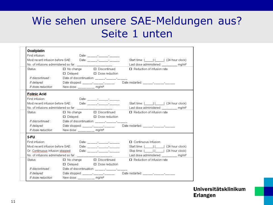 11 Wie sehen unsere SAE-Meldungen aus? Seite 1 unten