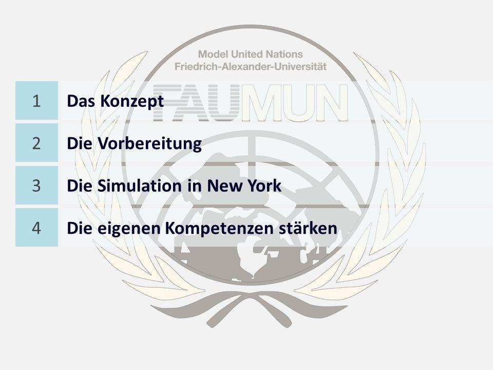 National Model United Nations (NMUN)MUN an der Universität Erlangen (FAUMUN) Internationale Simulation der Vereinten Nationen in New York seit 1946 4000 Studenten von 300 Universitäten aus aller Welt Erfreut sich großer Anerkennung und Bekanntheit durch internationale Organisationen Initiativprojekt von Studenten in Zusammenarbeit mit PD Dr.