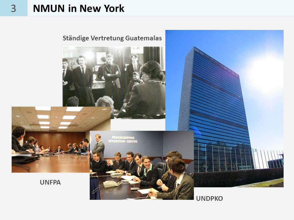 3NMUN in New York Ständige Vertretung Guatemalas UNDPKO UNFPA