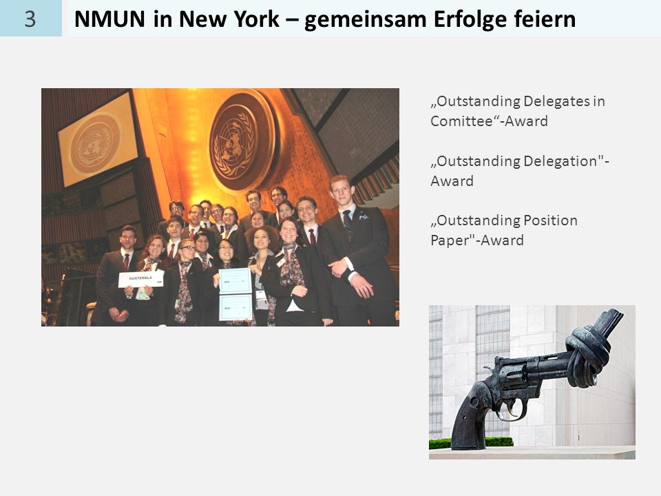 3NMUN in New York – gemeinsam Erfolge feiern Outstanding Delegates in Comittee-Award Outstanding Delegation