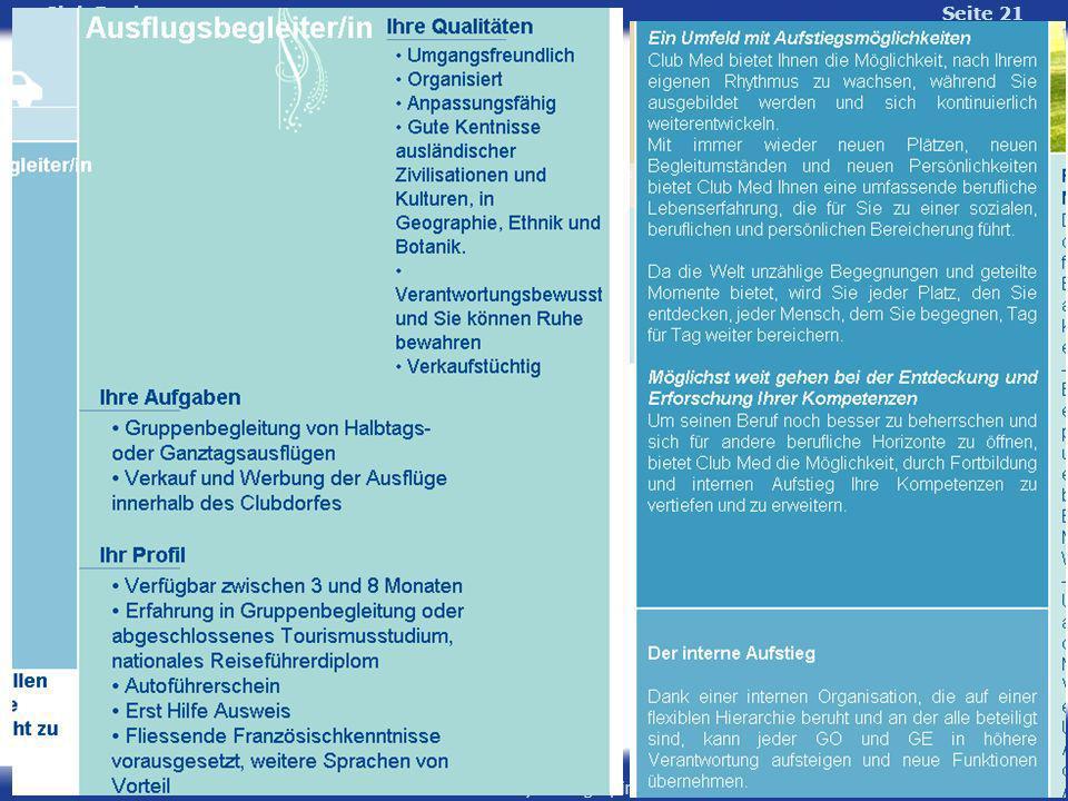 Lehrstuhl für Psychologie, insb. Wirtschafts- und Sozialpsychologie Universität Erlangen-Nürnberg Club Fred Seite 21