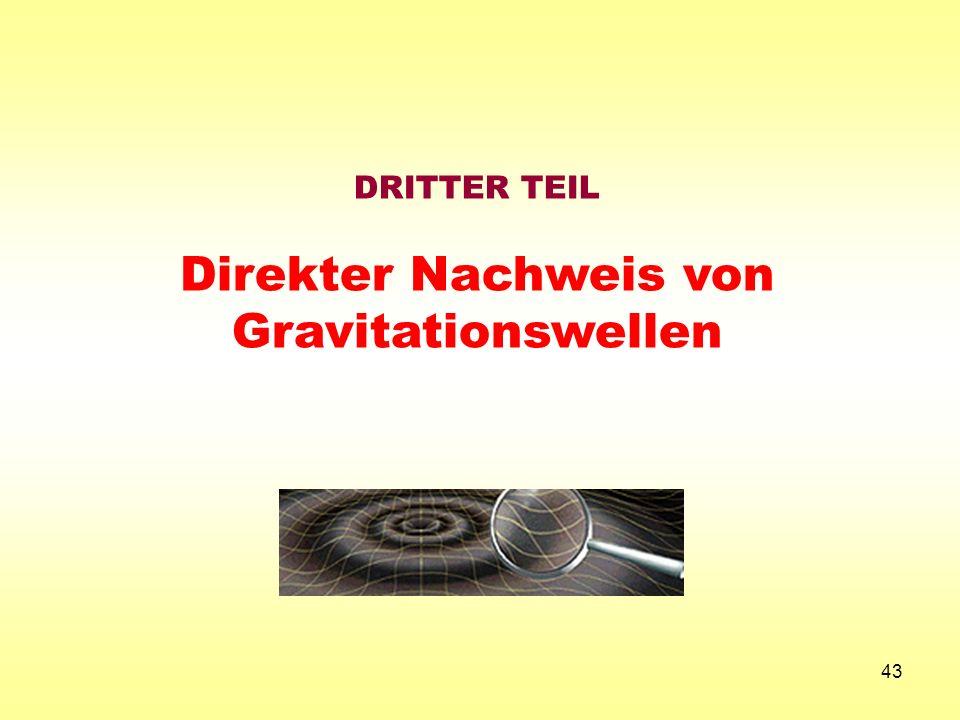 43 DRITTER TEIL Direkter Nachweis von Gravitationswellen