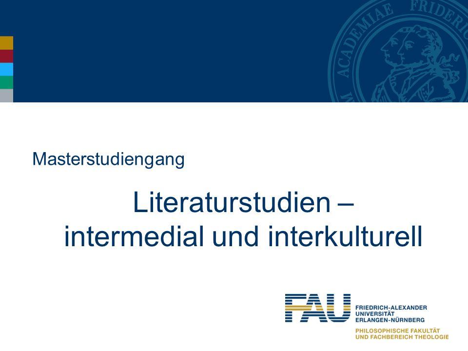 Masterstudiengang Literaturstudien – intermedial und interkulturell