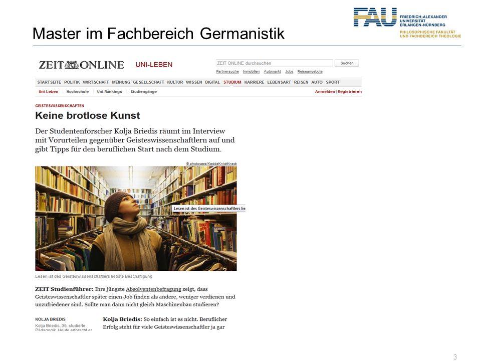 3 Master im Fachbereich Germanistik