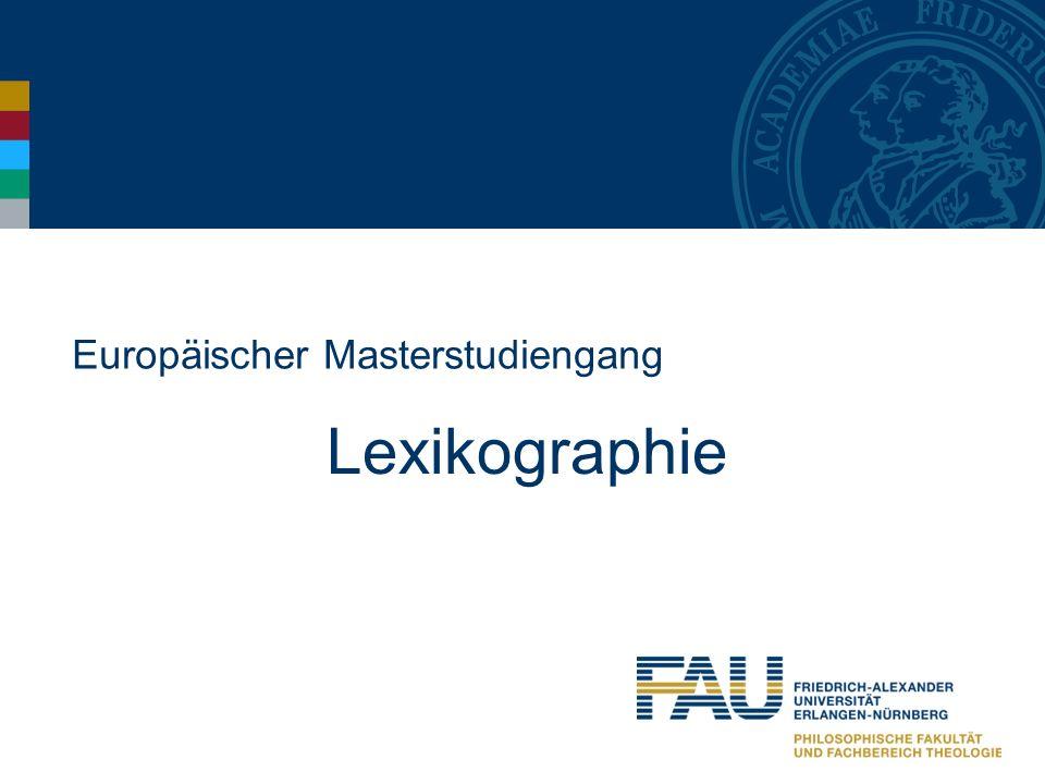 Europäischer Masterstudiengang Lexikographie