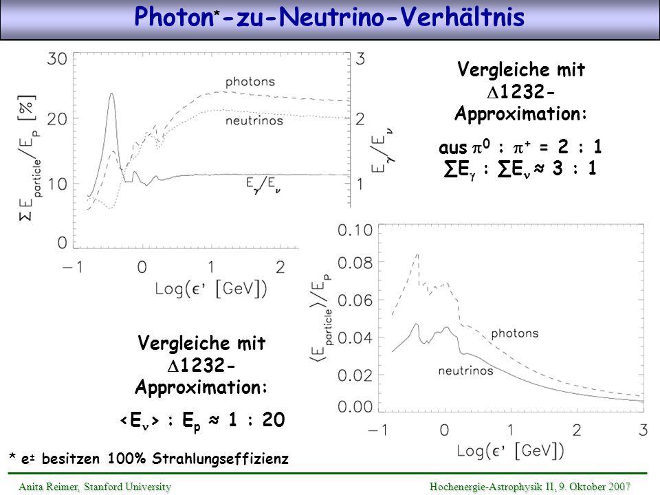 Anita Reimer, Stanford UniversityHochenergie-Astrophysik II, 9. Oktober 2007 Anita Reimer, Stanford University Hochenergie-Astrophysik II, 9. Oktober