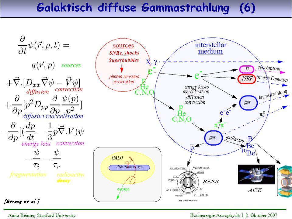 Anita Reimer, Stanford UniversityHochenergie-Astrophysik II, 9.