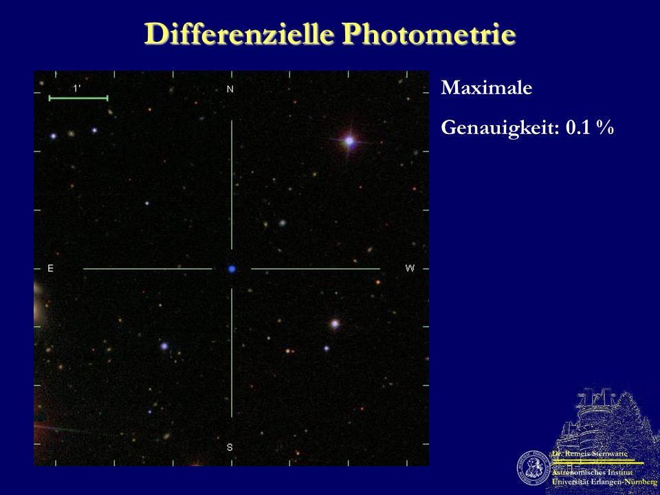 Differenzielle Photometrie Maximale Genauigkeit: 0.1 %