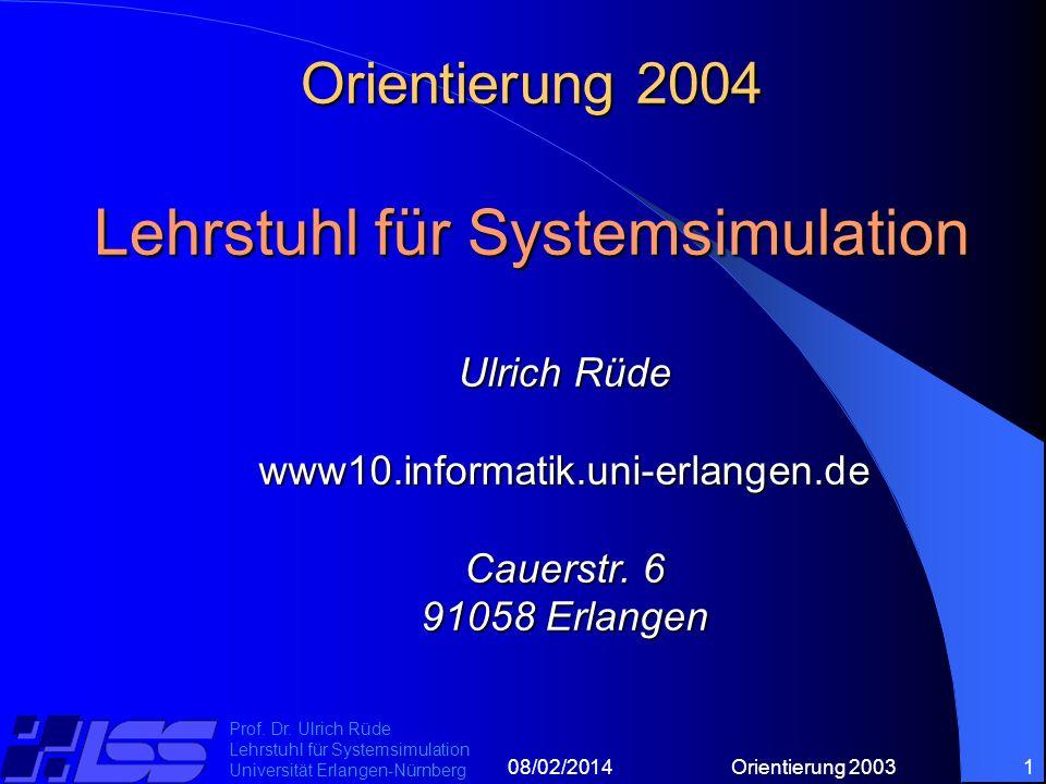 08/02/2014Orientierung 20031 Prof. Dr.